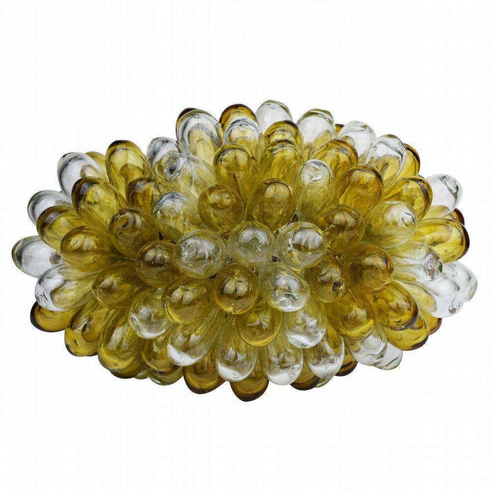 Recycled Glass Grape Lamp - Medium - Amber & Clear